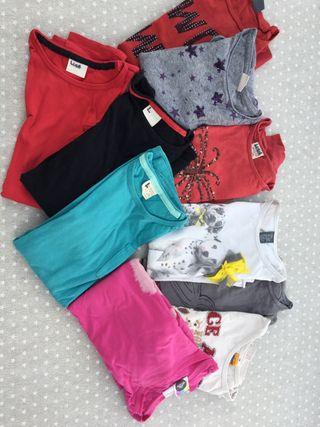 Lote. 10 camisetas + malla y chaleco + americana