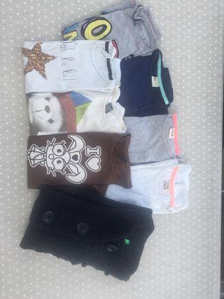 Lote. 7 Camisetas invierno y chaleco de lana