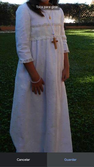 Vestido comunión impecable. Niña 10-12
