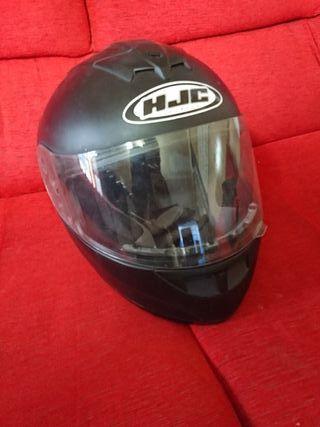 casco de moto Hjc modelo Rubbertone Flat Black T_M