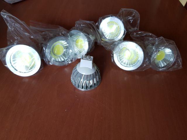 7 bombillas Mr16 de 9w led (sin uso)