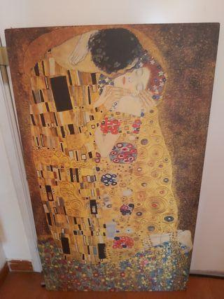 "cuadro ""El beso"" de Gustav Klimt"