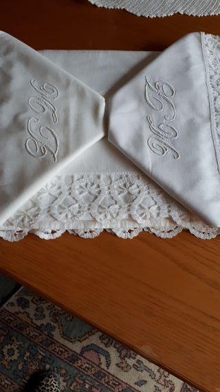 sabana antigua para cama de matrimonio