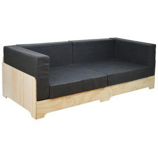 Sofá Palet Industrial BOX con Cojines de Polipiel