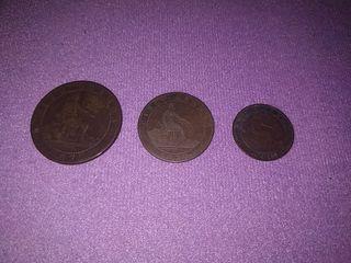 Lote de Monedas ESPAÑA 1870