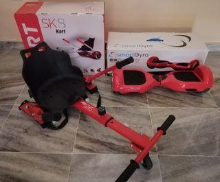 Hoverboard + kart-SK8, regulable.