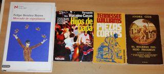 Cuatro libros de novela contemporanea y narrativa