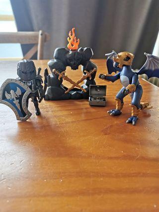 Caballeros Playmobil dragón