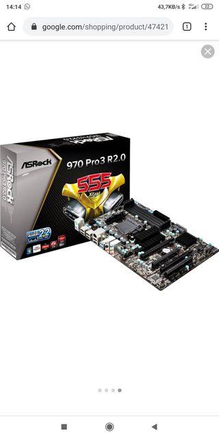 placa asrock 970 pro+Procesador AMD fx6300+RAM 8GB