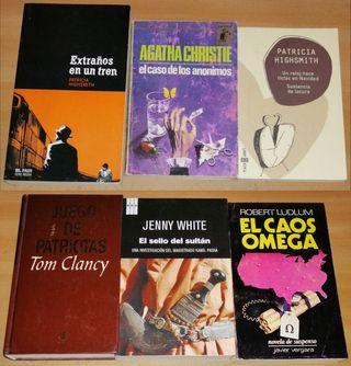 Seis libros novela policíaca, misterio, suspense