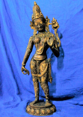 diosa bronce india 41 cm