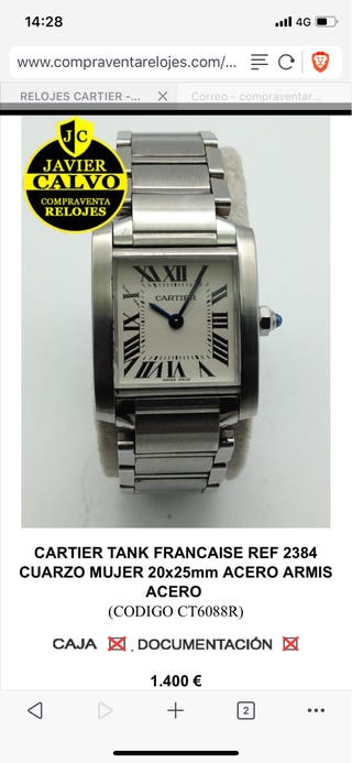 Cartier Tank Francaise mujer