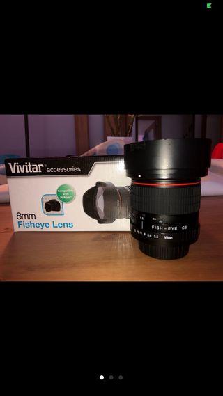 Vivitar serie 1 obj 8mm F:3,5 ojo de pez Nikon