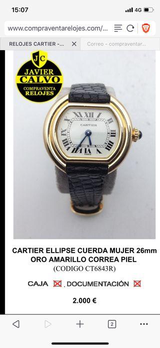 Cartier Ellipse oro mujer