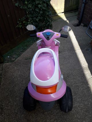 Pink battery operated scooter
