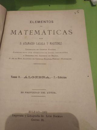 libro de Matemáticas Antiguo