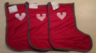 Lote 3 calcetines navideños nuevos de colgar