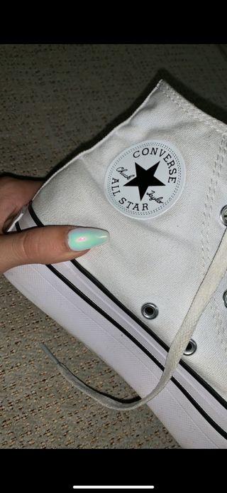 Converse All Star Blancas Plataforma