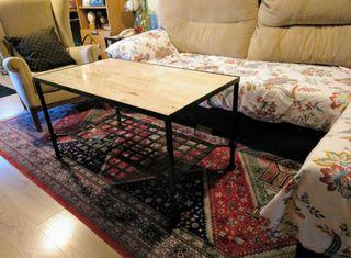 Original mesa con estructura de forja
