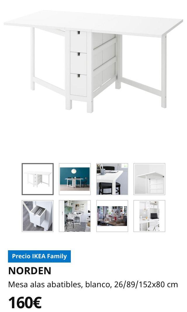 Mesa alas abatible IKEA