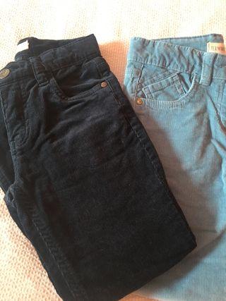 Lote 2 pantalones niña