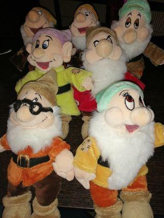 peluches 7 enanitos colección Disney
