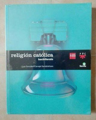 Libro de texto, religión católica Bachillerato