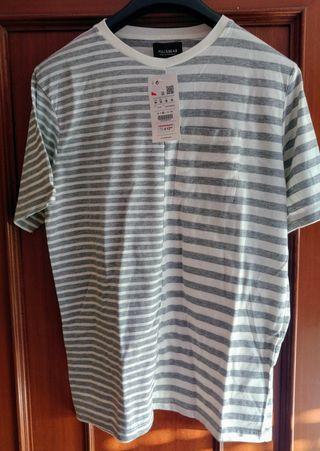Camiseta para hombre Pull and Bear Talla M. Nueva.