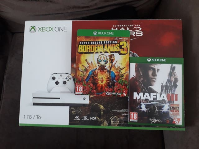 xbox one S 1TB with 2 games.