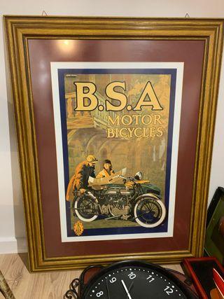 Cuadro vehículo moto BSA Clásico muy bonito