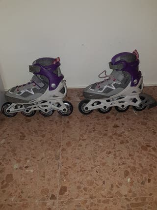 patines línea, niña