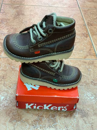 Botas kickers marrón chocolate