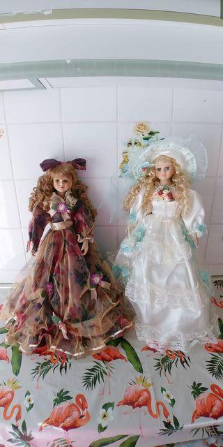 muñecas de porcelana nuevas,45 cm de alto,