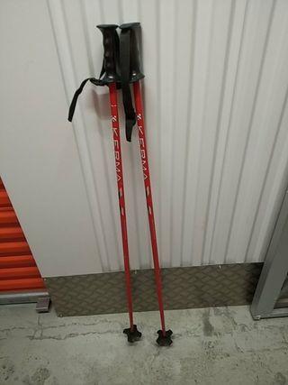 Bastones de esquí de la marca kerma 120cms