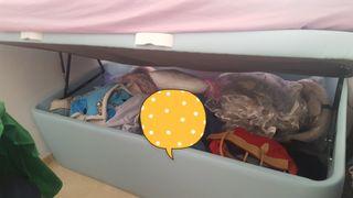 Maravillosa cama-arconjuguetero.marca bedland