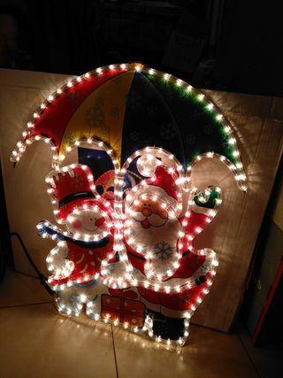 luz navidad paraguas
