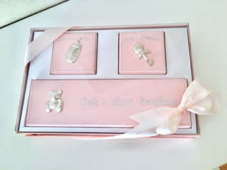 Cajita recuerdos bebe rosa