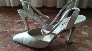 zapatos novia piel