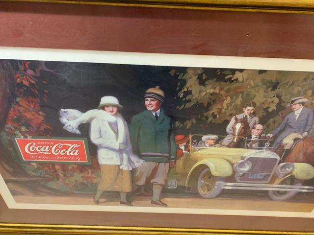 Cuando coche clásico Coke Coca Cola