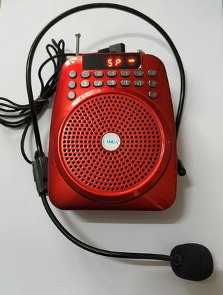ALTAVOZ MICRO-AMPLIFICADO- RADIO FM-USB-TFT