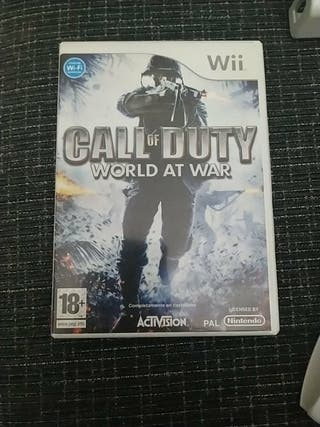 juego Wii calle of duty con dos pistolas