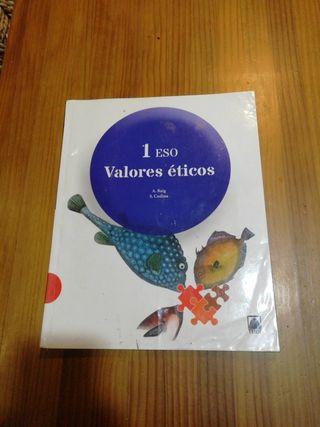 se vende libro de valores éticos de 1 de la eso