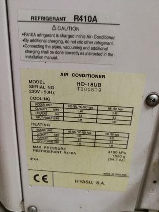 Vendo Aire acondicionado de 5000 frigorías y 6000