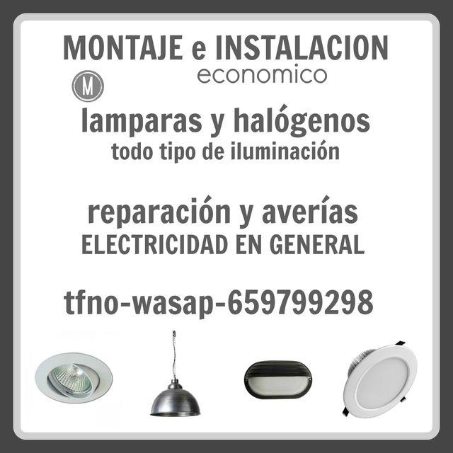 MONTAJE ILUMINACION-LAMPARAS-HALOGENOS