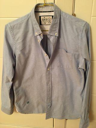 Camisa chico talla 14, seminueva, azul clara
