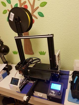 Impresora 3D Ender 3 con múltiples mejoras