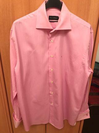 Camisa rosa caballero. Talla 4-L