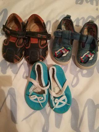 Lote de zapatos niñ@ número 20