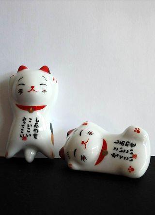 Soporte para palillos de gato de cerámica