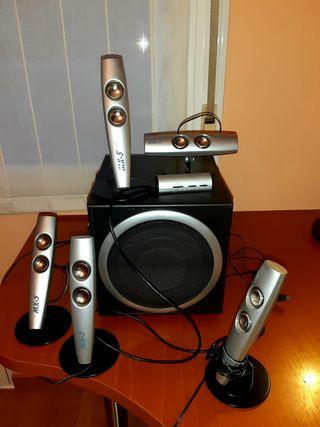 Equipo de sonido digital 5.1 para PC.